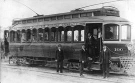 [The British Columbia Electric Railway Company Sapperton street car No. 100]