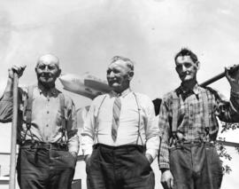[Thomas Doman, Auldin Field Ayres and John Logan senior airport grounds maintenance staff]