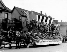 "[The ""Leif Erikson"" float in the Vancouver Pageant on Burrard Street]"