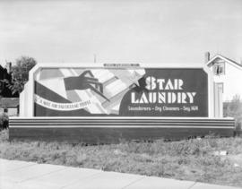 George Fleming Company [billboard for] Star Laundry