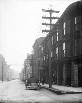 [View of Water Street, looking east from Cordova Street]