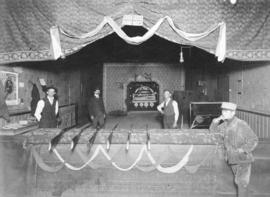 [The interior of a shooting gallery on Cordova Street]