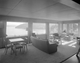 [Interior view of Haulterman House on Bowen Island]