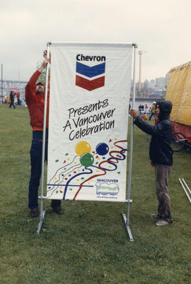 Assembling the Chevron Stage sign