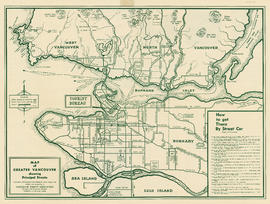 City map and points of interest of Vancouver, British Columbia : side 2
