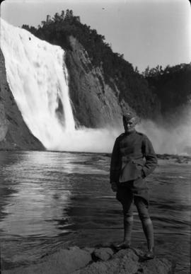 J.C. [James Crookall] at Montmorency Falls
