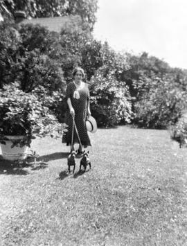 "Mrs. A.D. McRae on the lawn at ""Hycroft"""