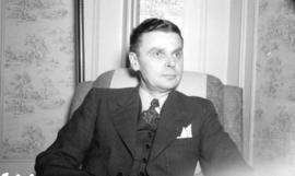 [Head and shoulders portrait of John Diefenbaker]
