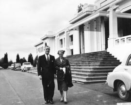 His Worship A.T. Alsbury and Mrs. Alsbury Visit the Parliament Buildings at Canberra