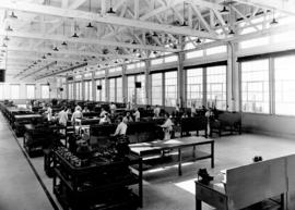 [Interior showing south view of main shop - B.A.E.L. and C.W.L. on Sea Island built by Major Gene...