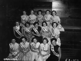 Group photograph of Miss Vancouver contestants