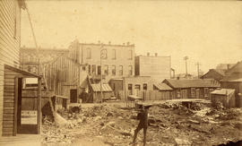 [Vacant lots on the north side of Hastings street between Homer Street and Hamilton Street]