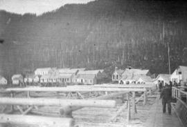 [Unidentified buildings at Skeena River Cannery]
