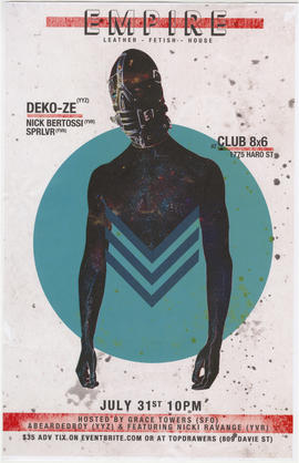 Empire : leather, fetish, house : Deko-Ze, Nick Bertossi, Sprlvr at Club 8X6, 1775 Haro St. : Jul...