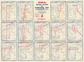 Transit routes in downtown area Vancouver, B.C. effective July 18, 1952