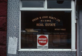 Green & Louie Real Estate, storefront on Main Street