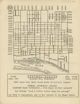 Sectional map and street directory of Vancouver, British Columbia : [Boundary Road to Forty-ninth...
