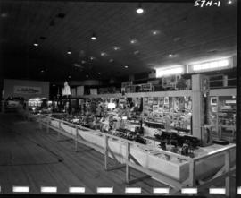 Display of handicraft, models, and art in 1957 P.N.E. Hobby Show