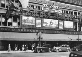 [David Spencer Limited store, decorated for Vancouver's Golden Jubilee]