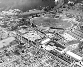 Aerial view looking northeast over Hastings Park