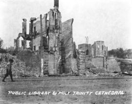 Public Library and Holy Trinity Cathedral [after fire of September 10, 1898]