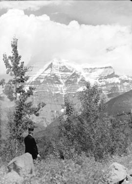 [A scenic view of] Mount Robson