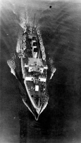 "An aerial view of one of the ""Princess"" ships"