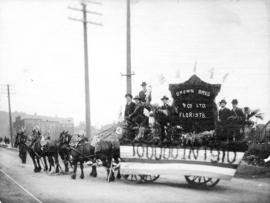 [Horse drawn float, Brown Bros. Florists]