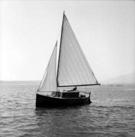 Karl Koenig in converted lifeboat