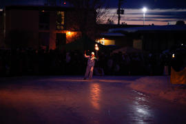 Day 94 Torchbearer 53 Jamie Lee skates in Fort St. John, British Columbia