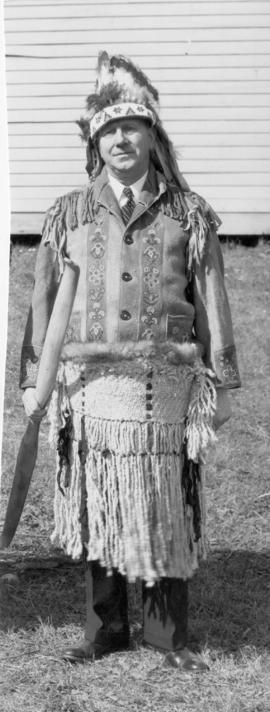 [B.T. Chappell dressed as Chief Iron Horse]
