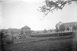[1st and 2nd Battalion, 5th Regiment, Canadian Garrison Artillery, on parade at Beacon Hill Park,...