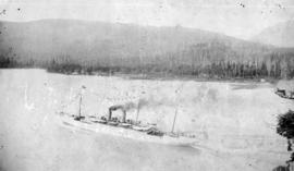 C.P.R. Steamer Empress of Japan passing through the Narrows, Vancouver, B.C.