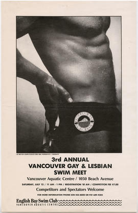 3rd annual Vancouver gay and lesbian swim meet : Vancouver Aquatic Centre, 1050 Beach Avenue : Sa...