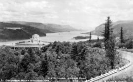 Vista House, Crown Point.  Columbia River, Oregon