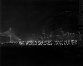 """The world salutes Vancouver"" in lights"