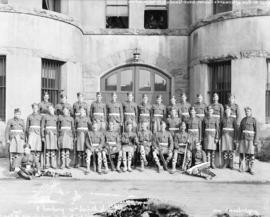 """E"" Company - 72nd Seaforth Highlanders [assembled outside Beatty Street drill hall]"