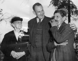 [Alice Crakanthorp, John H. Cates and John Flores during jubilee celebrations]