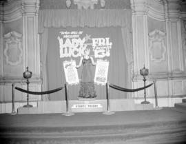 "[Display in the Orpheum lobby for a ""Lady Luck"" contest"""