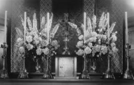 Easter Sunday, St. James' Church [303 East Cordova] - flowers on high altar