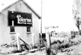 View of Ladner station, showing Imperial advertising