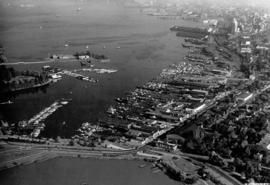 [Aerial view of Vancouver Harbour looking east from Lost Lagoon]