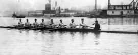 Coal Harbour scene - 1914 - Vancouver Rowing Club eight