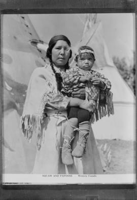 [Indigenous woman and child]