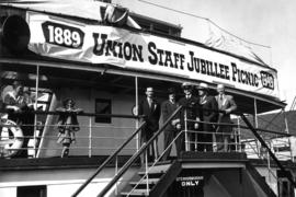 "[Aboard S.S. ""Lady Alexandra"" for Union Staff Jubilee Picnic]"