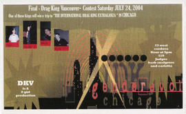 Final - Drag King Vancouver contest : Saturday, July 24, 2004 : 23 West Cordova : Judges Barb Sne...