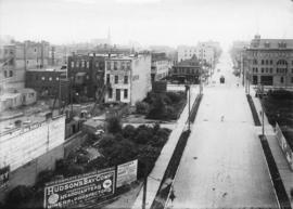 [View along Granville Street looking south from the waterfront]