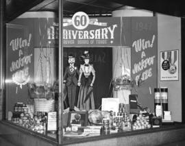 [Vancouver Board of Trade 60th Anniversary window display at B.C. Electric]
