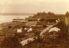 [A waterfront settlement on Ladner Road near New Westminster]