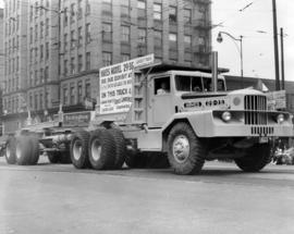 Hayes Lawrence Co. truck in 1949 P.N.E. Opening Day Parade